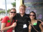 Katie and I with our delicious Holy Cacao cake balls and Executive Chef Mary Margret!
