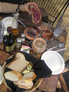 European-Style brunch on Blue Dahlia's patio was relaxing and delightful!