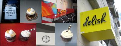 "You can now endulge in a ""Delish"" cupcake when strolling downtown on W. 3rd!"