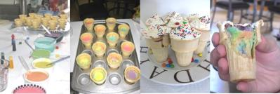 cupcake cones in progress